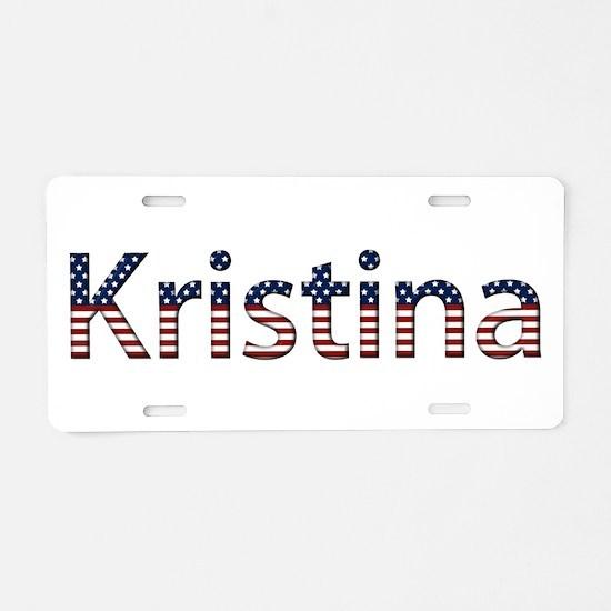 Kristina Stars and Stripes Aluminum License Plate