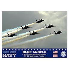 Blue Angel's F-18 Hornet Poster