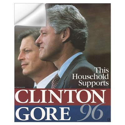 Clinton Gore 1996 Wall Decal