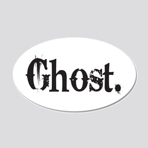 Grunge Ghost 22x14 Oval Wall Peel
