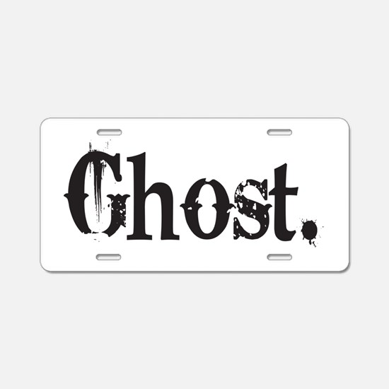 Grunge Ghost Aluminum License Plate