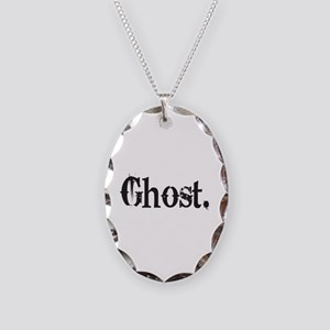 Grunge Ghost Necklace Oval Charm