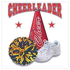Cheerleader Sneaker Poster