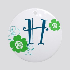H Flowers Ornament (Round)