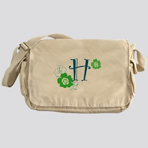 H Flowers Messenger Bag