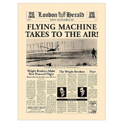 Wright Bros. Headline Poster