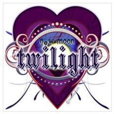 New Moon Mystic Purple Heart Poster