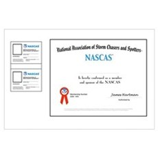 NASCAS Certificate and two wallet card blanks Framed Print