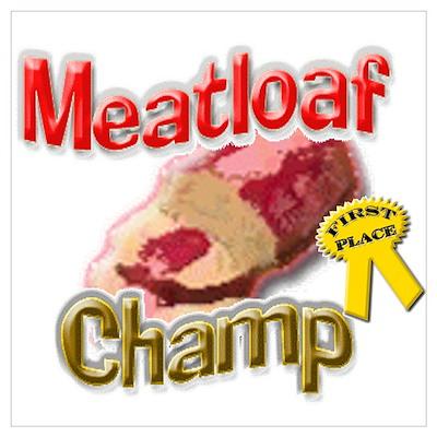 Meatloaf Champ Poster