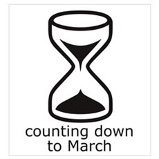 counting down March due date Framed Print