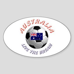 Australia world cup Oval Sticker