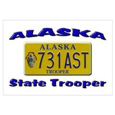 Alaska State Trooper Framed Print