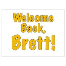 Welcome Back Brett Canvas Art