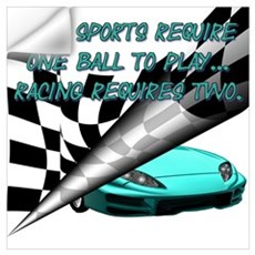Auto Racing Wall Decal