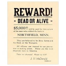 Northfield Bank Robbery Poster