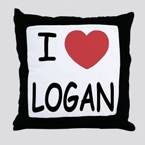 I heart Logan Throw Pillow