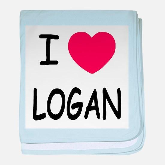 I heart Logan baby blanket