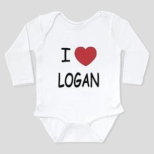 I heart Logan Long Sleeve Infant Bodysuit