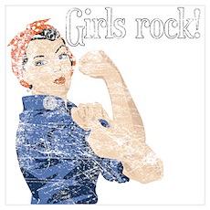 Girls Rock! (vintage) Poster