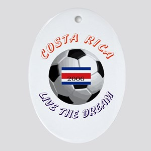 Costa Rica world cup Oval Ornament