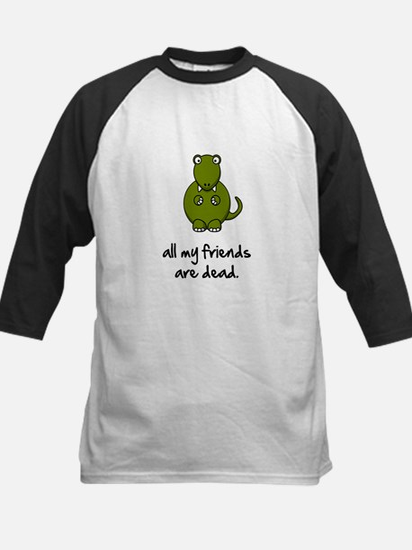 Dinosaur Friends Dead Kids Baseball Jersey