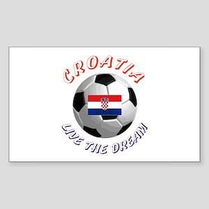 Croatia world cup Rectangle Sticker