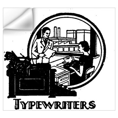 Retro Typewriters Wall Decal
