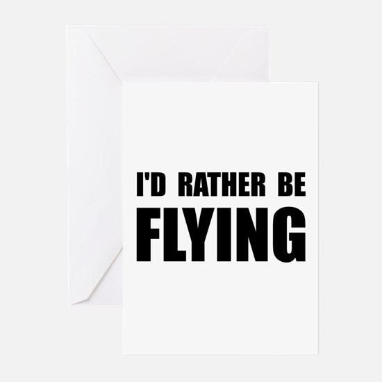 Rather Be Flying Greeting Cards (Pk of 10)