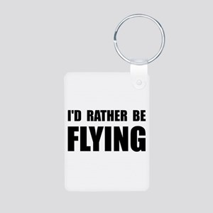 Rather Be Flying Aluminum Photo Keychain
