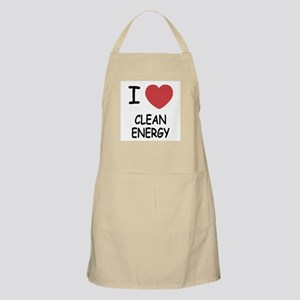 I heart clean energy Apron