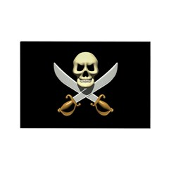 Pirate Skull and Swords Rectangle Magnet (10 pack)