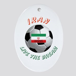 Iran world cup Oval Ornament