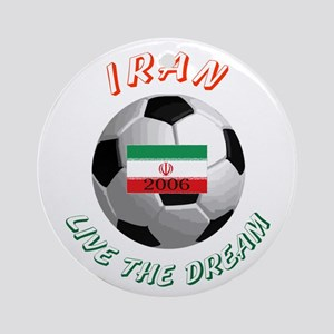 Iran world cup Ornament (Round)