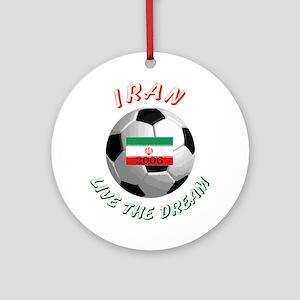 Iran world cup Ornament (Round)