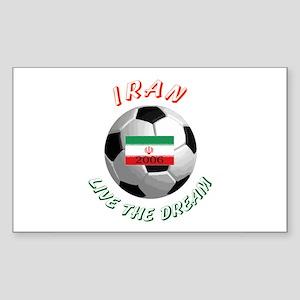 Iran world cup Rectangle Sticker