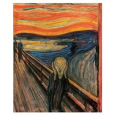 The Scream Skrik Framed Print