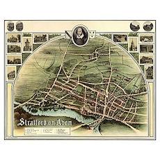 Vintage Stratford Map Poster