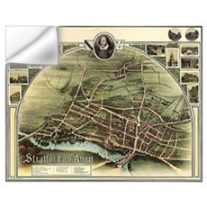 Vintage Stratford Map Wall Decal