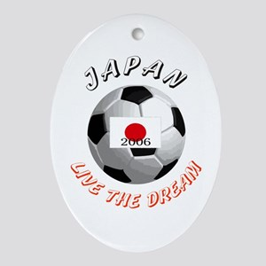 Japan world cup Oval Ornament
