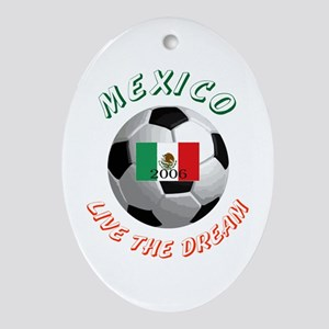Mexico world cup Oval Ornament