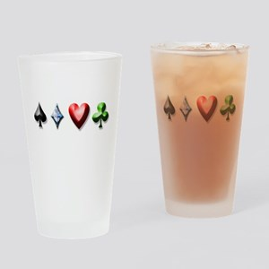 Playing Card Decal Drinking Glass