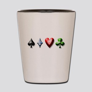 Playing Card Decal Shot Glass