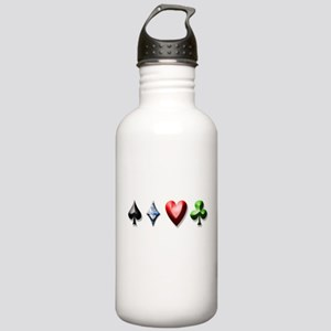 Playing Card Decal Stainless Water Bottle 1.0L