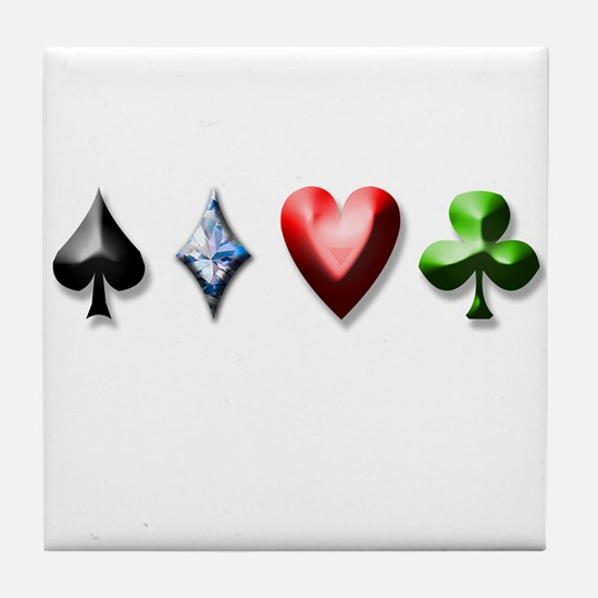 Playing Card Decal Tile Coaster