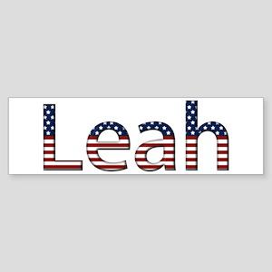 Leah Stars and Stripes Bumper Sticker