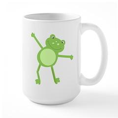 Green Leap Frog Large Mug
