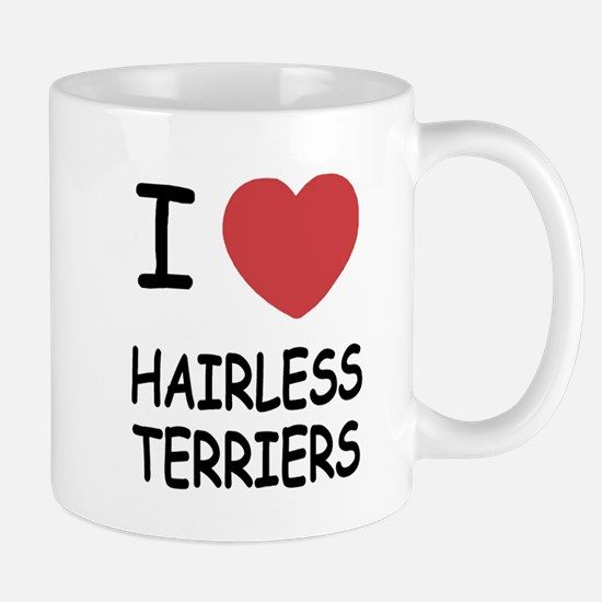 I heart hairless terriers Mug