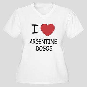 I heart argentine dogos Women's Plus Size V-Neck T