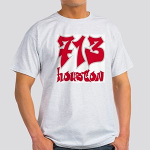 "Houston ""Rockets Colors"" Ash Grey T-Shirt"