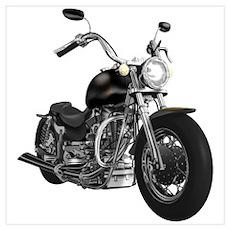 BLACK MOTORCYCLE Poster